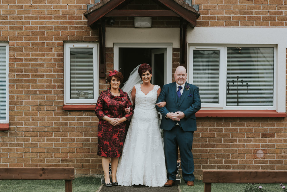 Limavady Wedding Pure Photo N.I bride mum dad