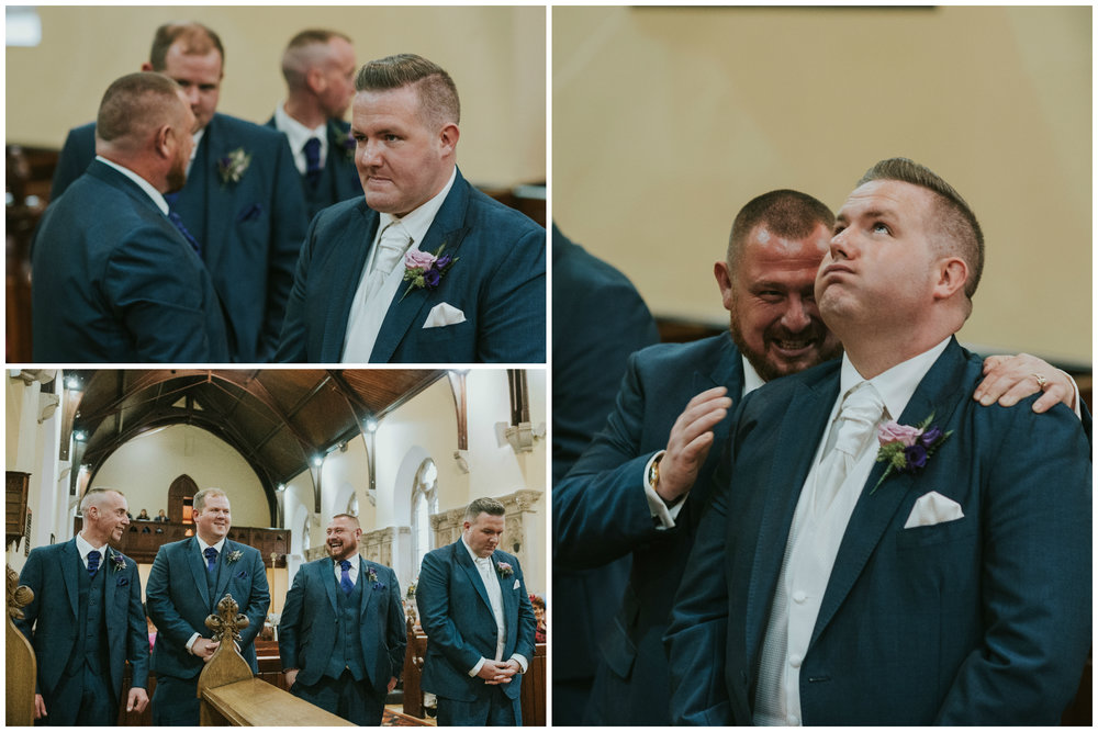 Christ Church Limavady wedding photographer Pure Photo N.I nervous groom