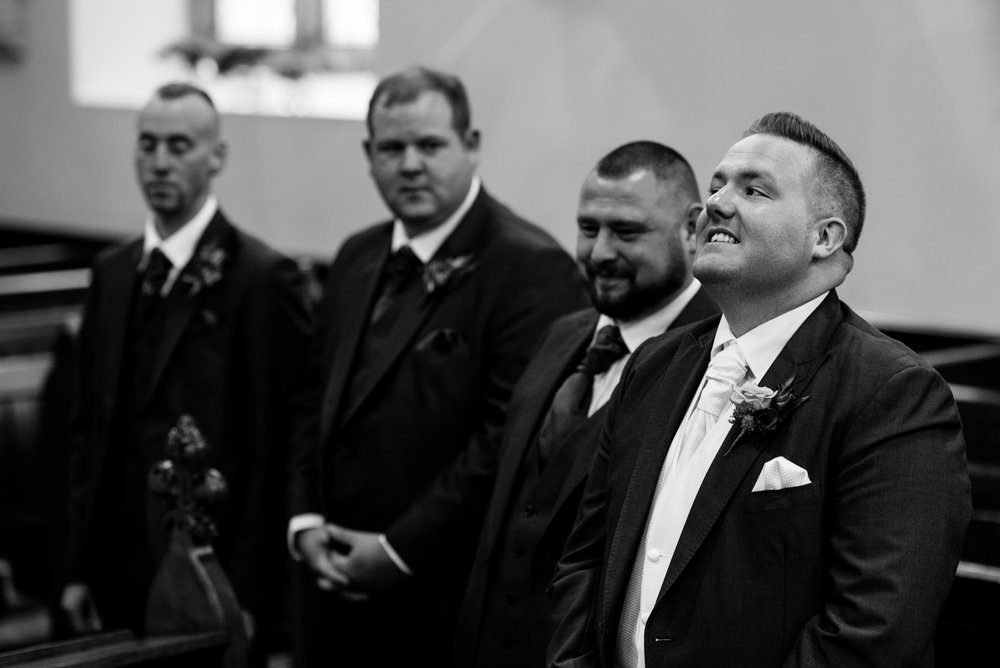 Christ Church Limavady wedding photographer Pure Photo N.I groom nerves