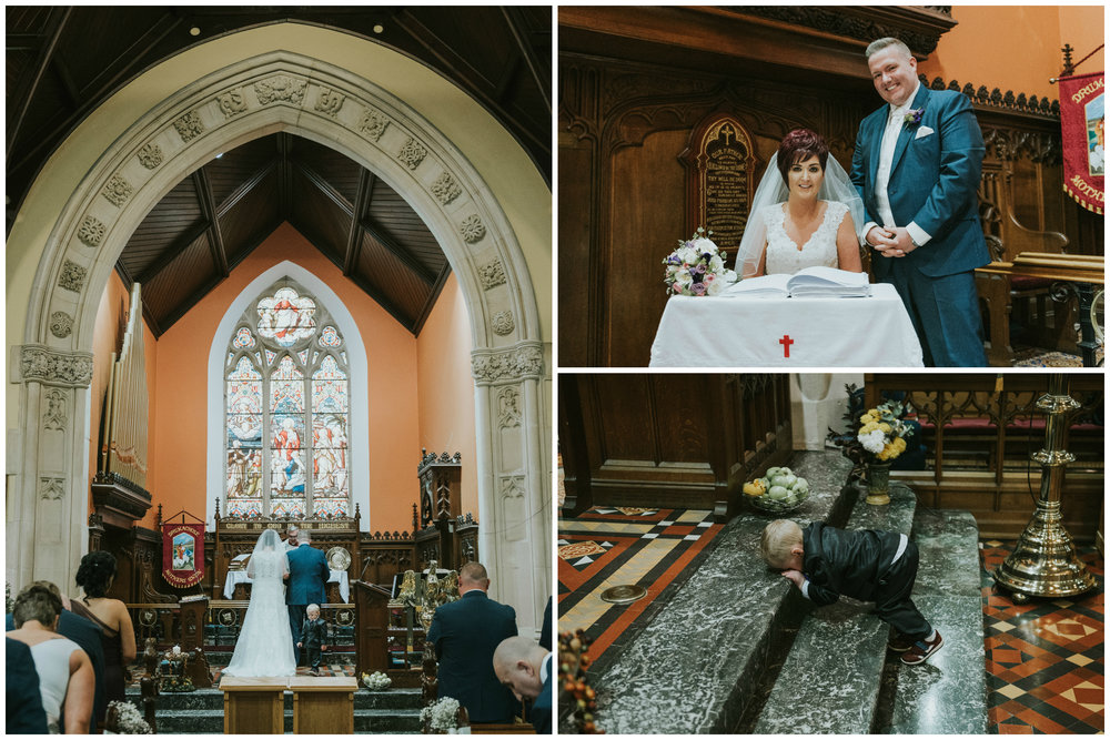 Christ Church Limavady wedding photographer Pure Photo N.I signing