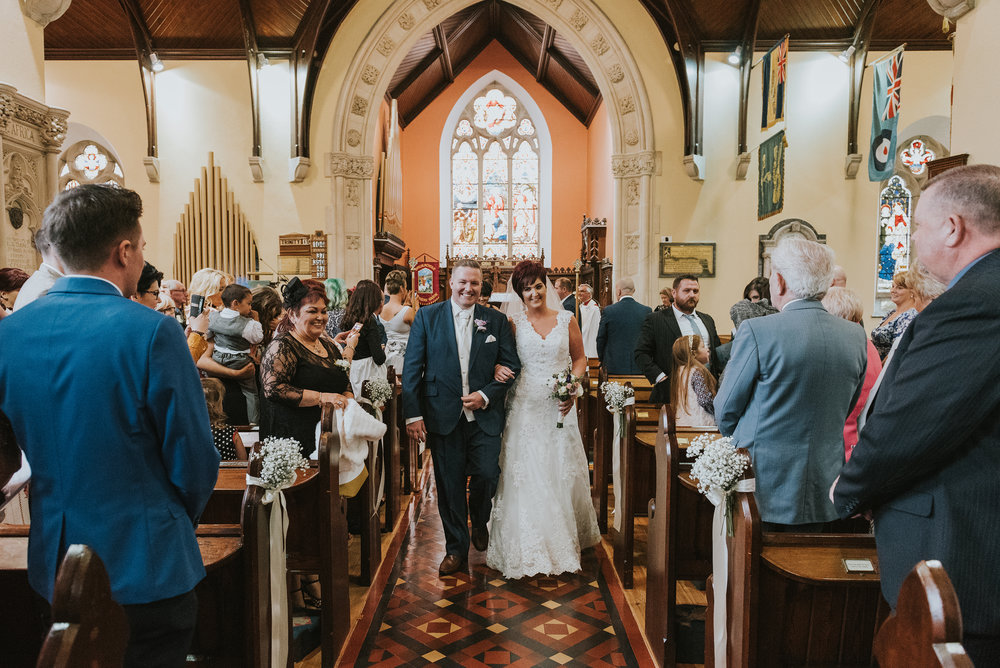 Christ Church Limavady wedding photographer Pure Photo N.I bride groom