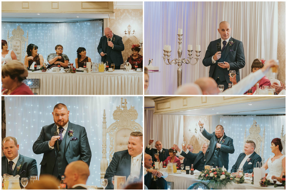 Bushtown Hotel Wedding Photographer Pure Photo N.I speeches
