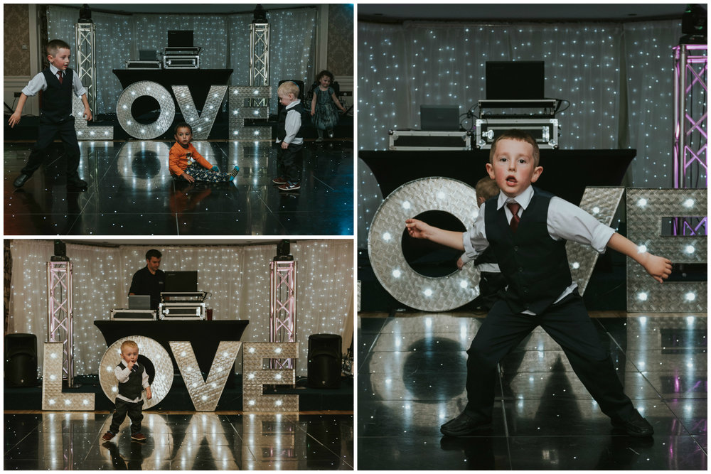 Bushtown Hotel Wedding Photographer Pure Photo N.I kids dancing