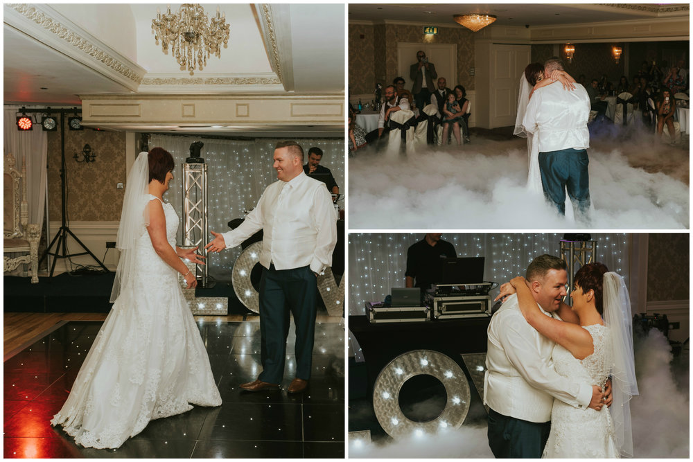 Bushtown Hotel Wedding Photographer Pure Photo N.I bride groom dancing