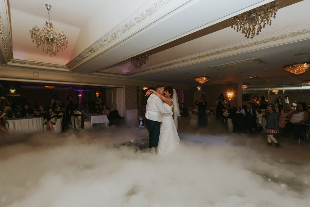 Bushtown Hotel Wedding Photographer Pure Photo N.I first dance