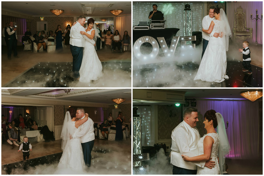 Bushtown Hotel Wedding Photographer Pure Photo N.I first dance bride groom