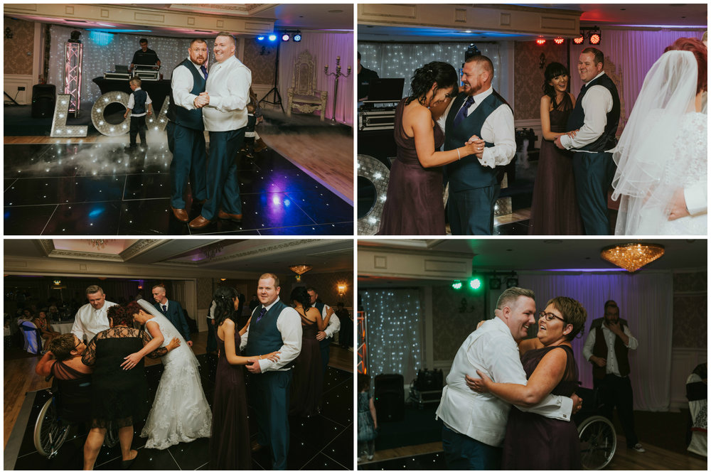 Bushtown Hotel Wedding Photographer Pure Photo N.I dancing