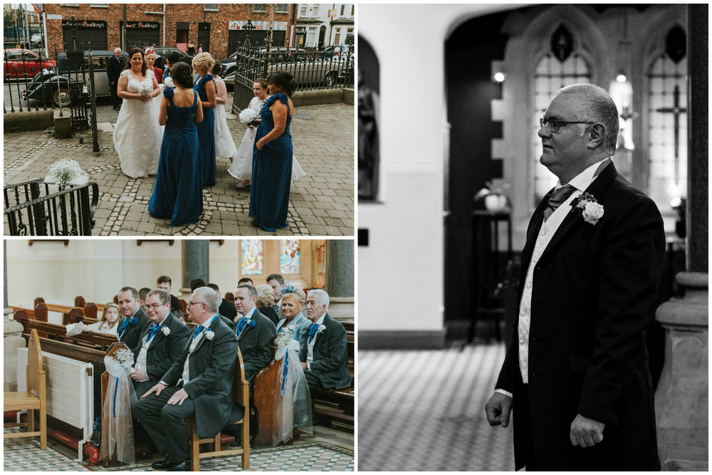 St. Pauls belfast wedding photographer pure photo n.i waiting groom