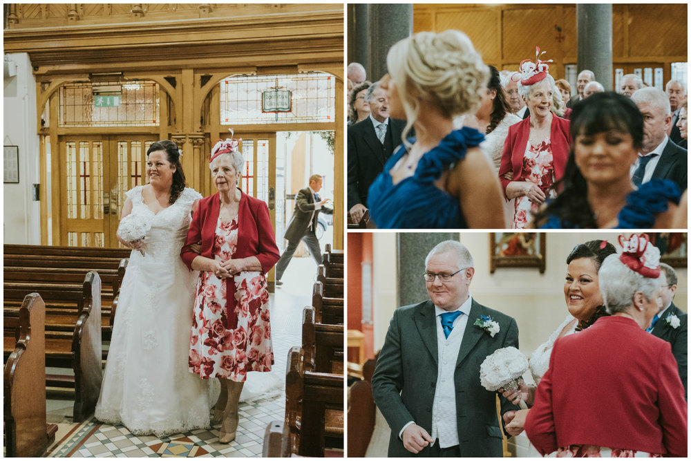 St. Pauls belfast wedding photographer pure photo n.i bride arrival