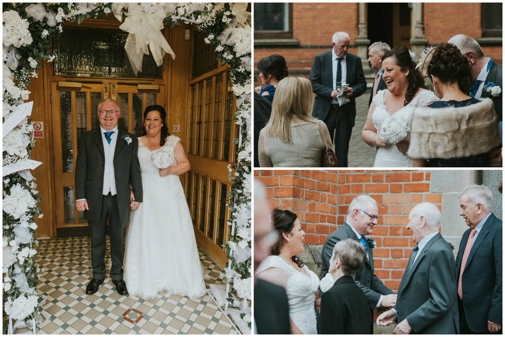 St. Pauls belfast wedding photographer pure photo n.i after ceremony