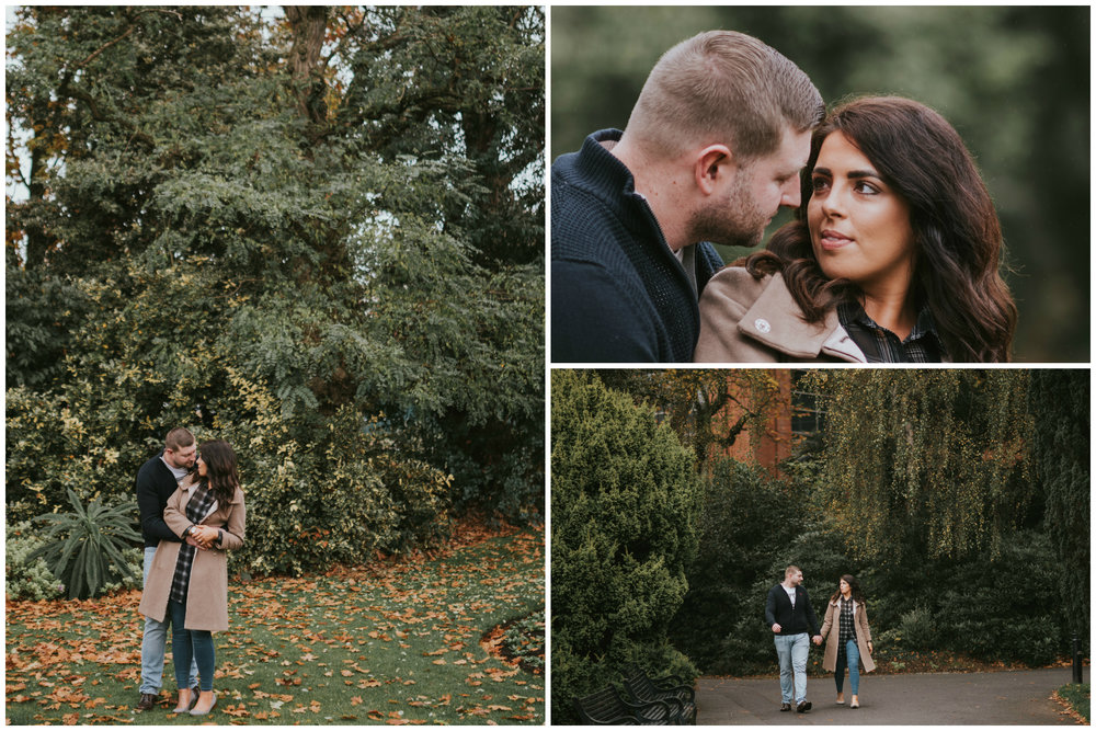 Botanic Gardens Belfast Engagement Session outside the palm house