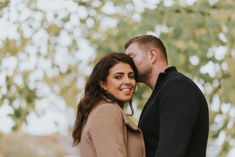 engagement session at belfasts botanic gardens