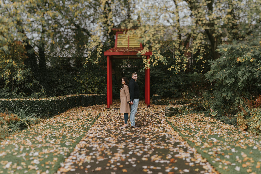 northern ireland engagement session at the botanic gardens in belfast