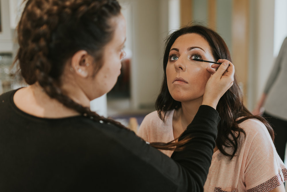 tullyglass house hotel wedding makeup bride
