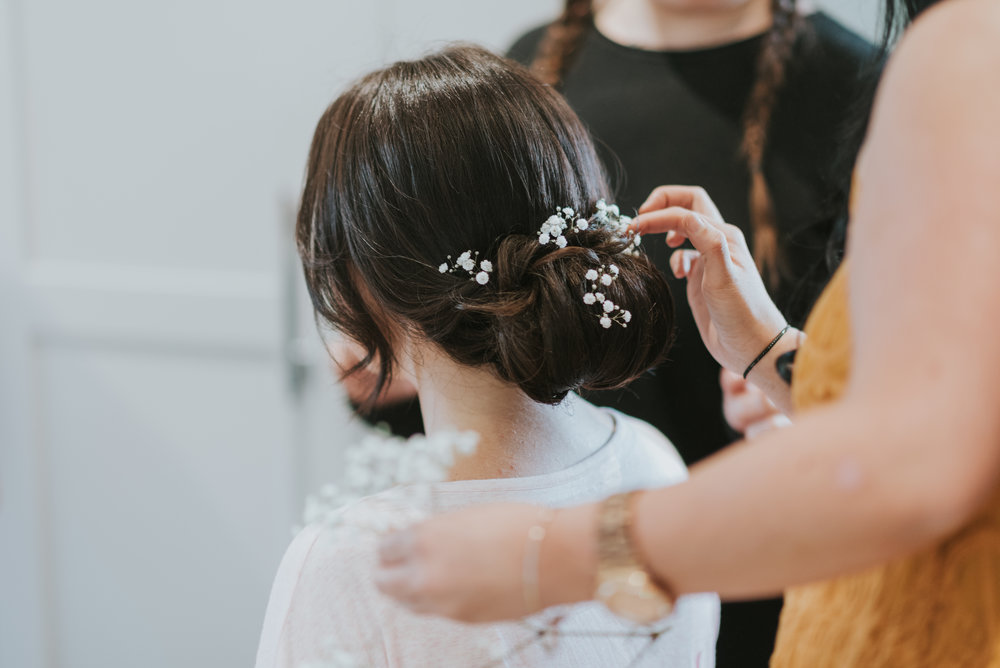 tullyglass house hotel wedding hair bridal