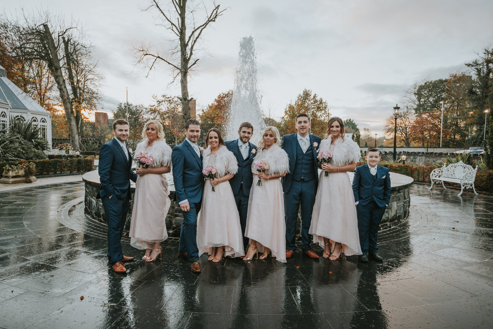 Tullyglass House Hotel wedding bridesmaids and groomsmen