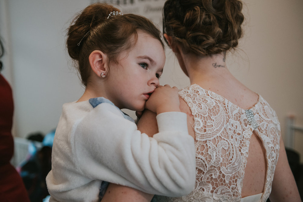 ten square hotel wedding getting ready flower girl bridesmaid