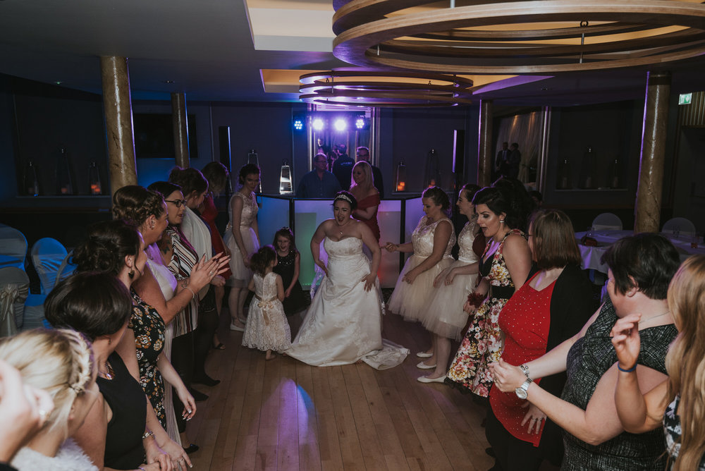 wedding photographer belfast ten square hotel dancing women