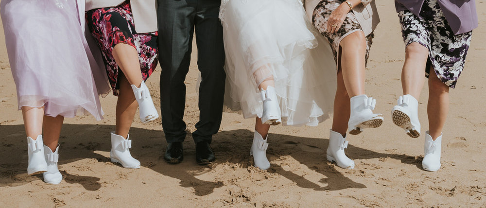 wedding wellie boots rain