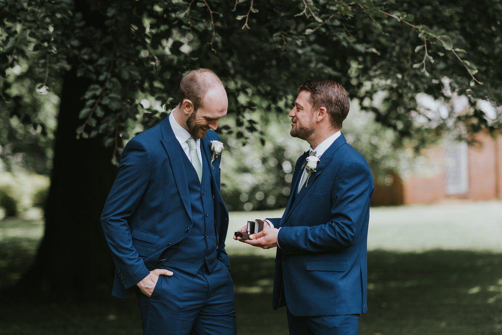 Groom and Best Man Tullylagan House Wedding