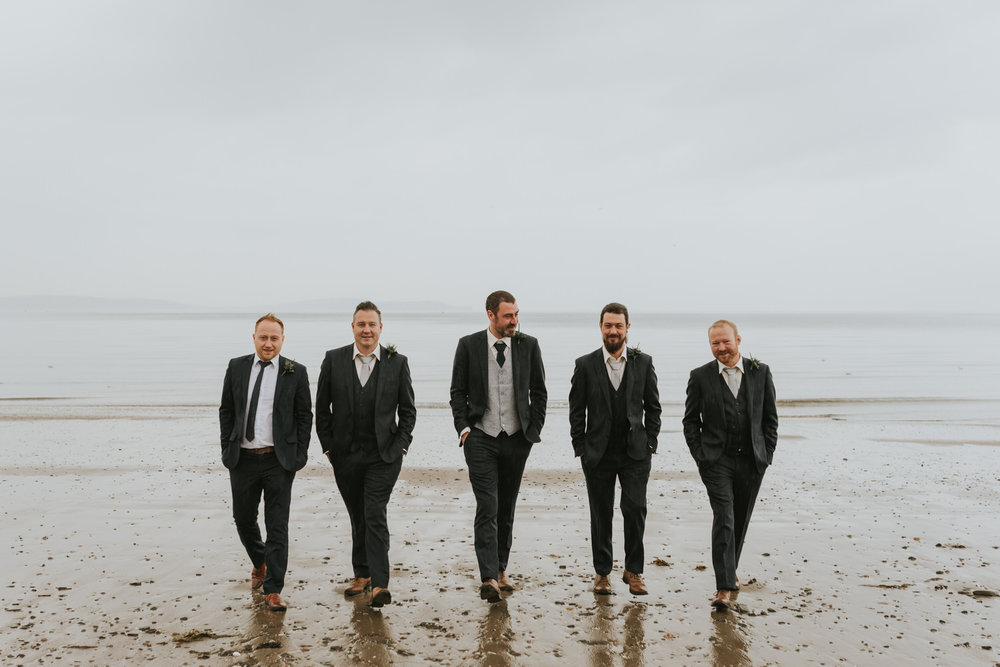 Groom and Groomsmen Beach Wedding