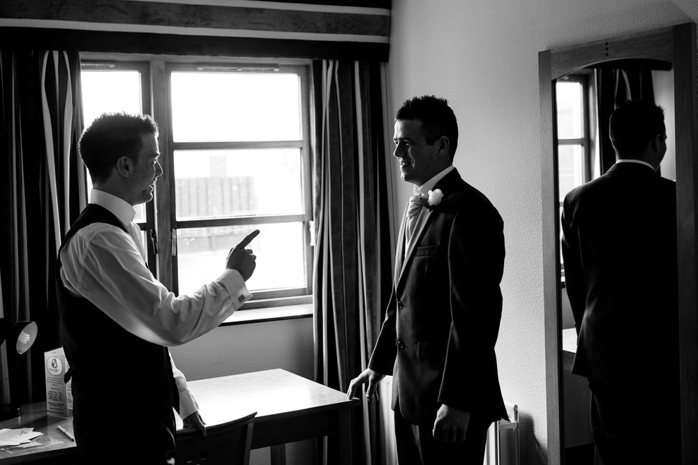 Loughshore Hotel Wedding groom getting ready