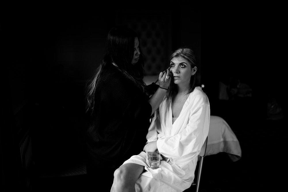 Tullylagan wedding bride getting ready