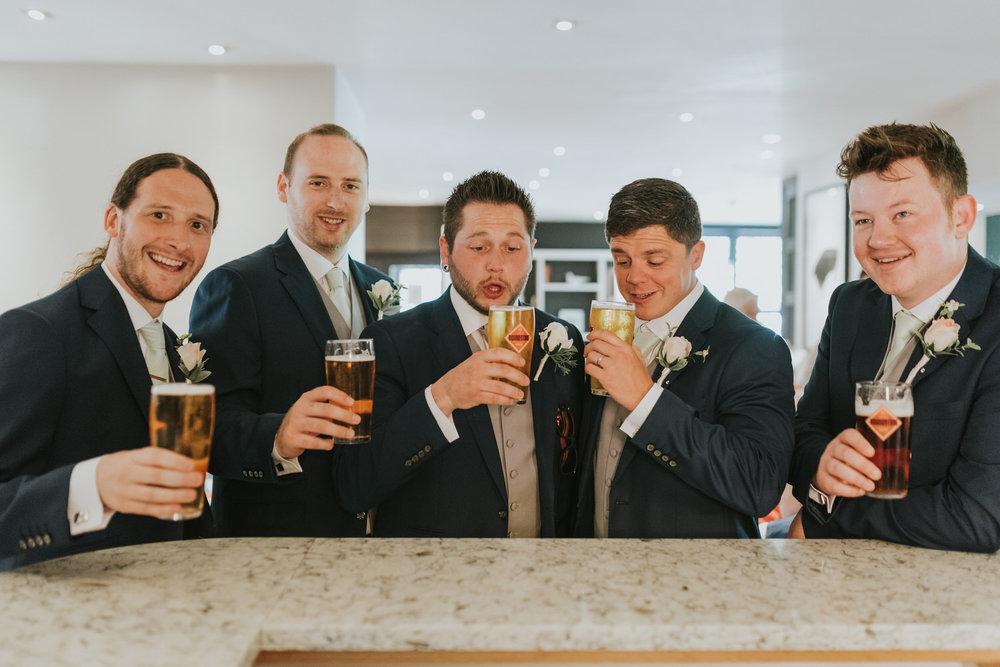 Clandeboye Lodge wedding groom getting ready