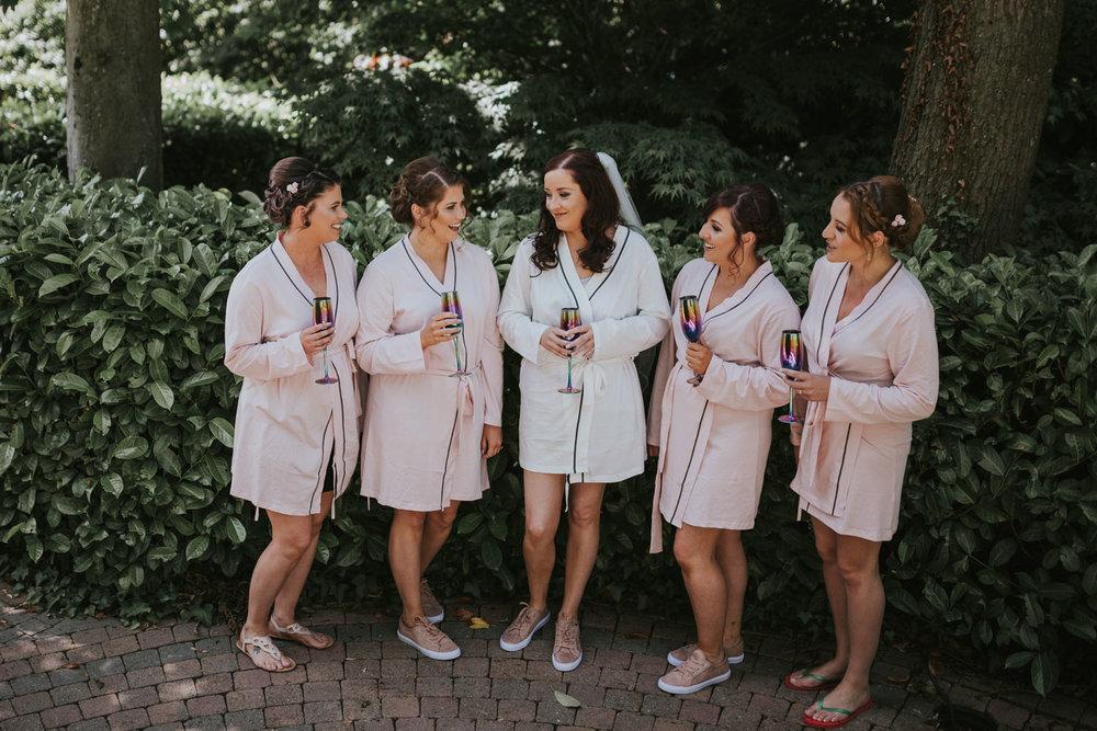 Clandeboye Lodge wedding bride getting ready
