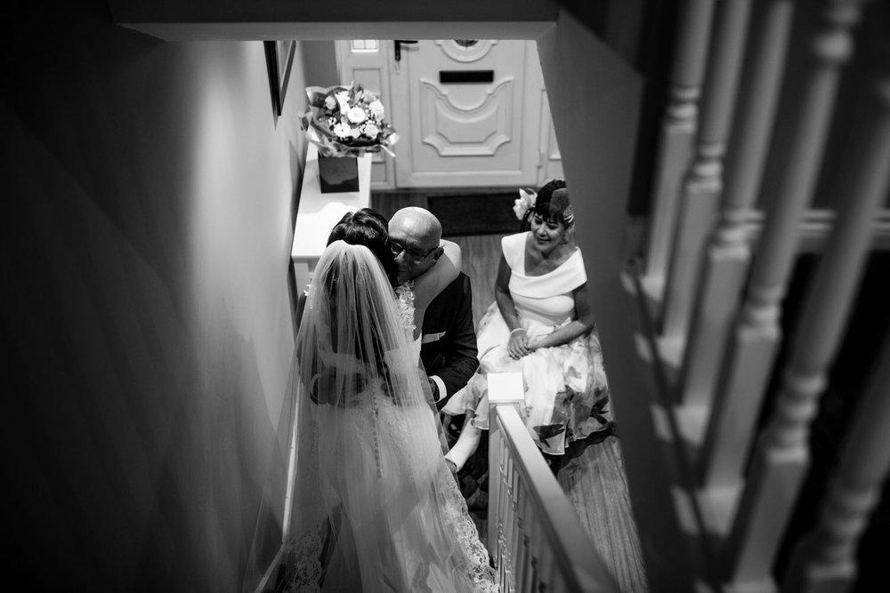 La Mon Hotel wedding bride and parents