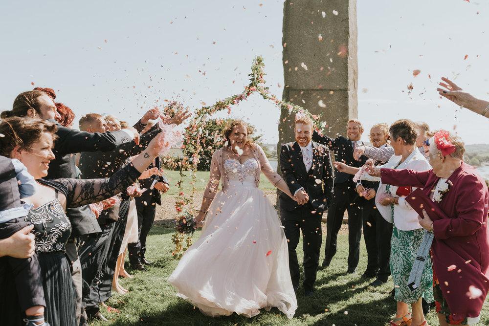 Dufferin Hall wedding confetti