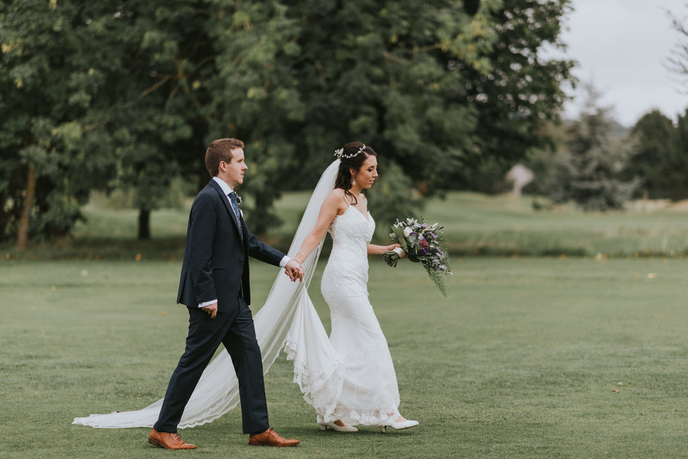 Hilton Hotel wedding bride and groom portraits