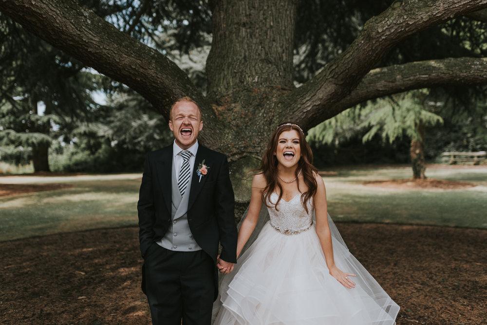 Stormont Hotel wedding bride and groom portrait