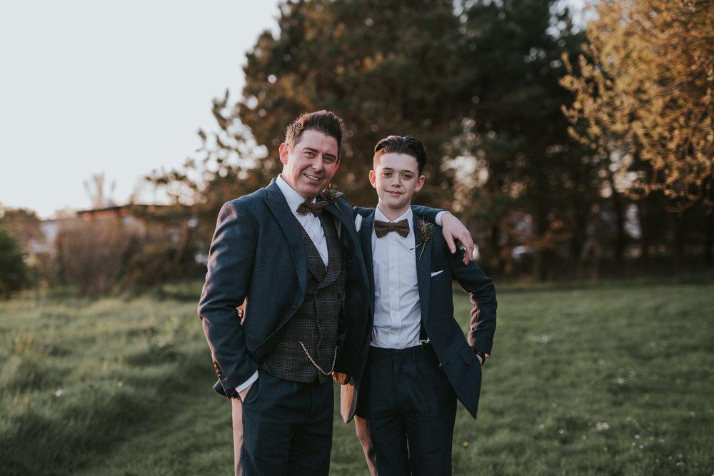 Orange Tree House wedding groomsmen