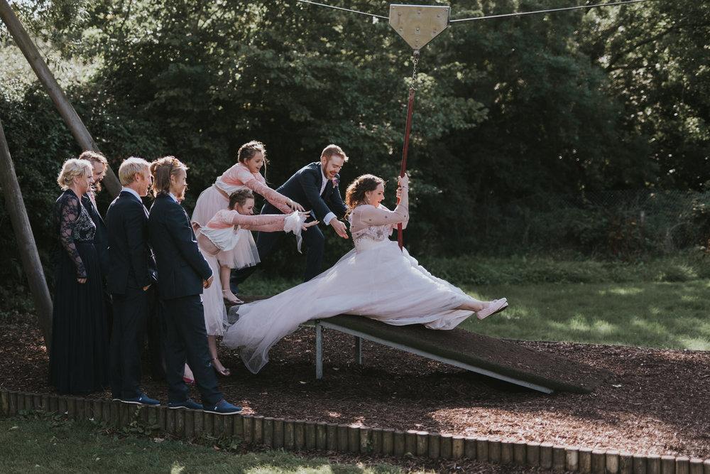 Dufferin Hall wedding bridal party