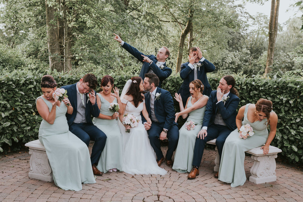 Clandeboye Lodge Hotel wedding wedding bridal party