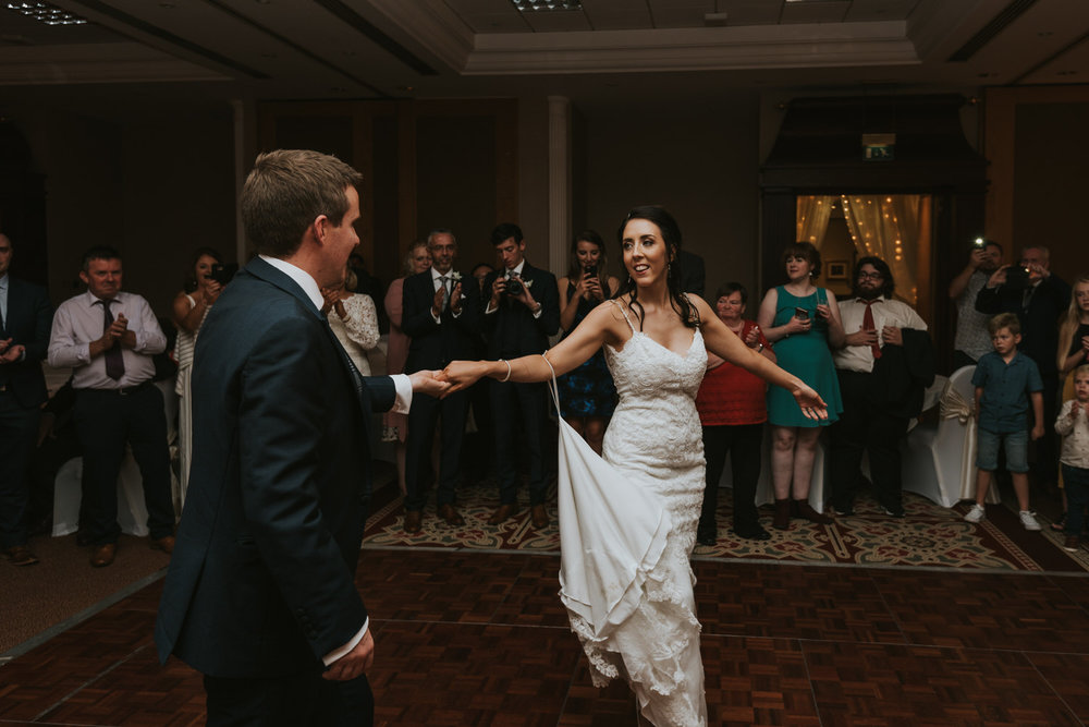 Hilton Hotel Wedding the first dance