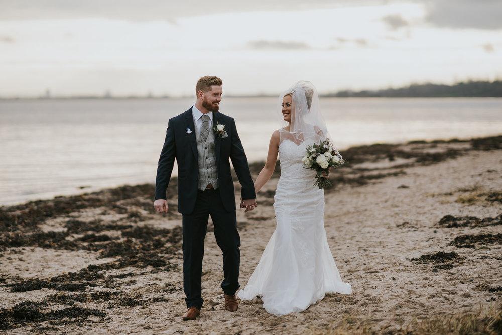 Belfast Loughshore Hotel wedding Bride and Groom Portrait.jpg