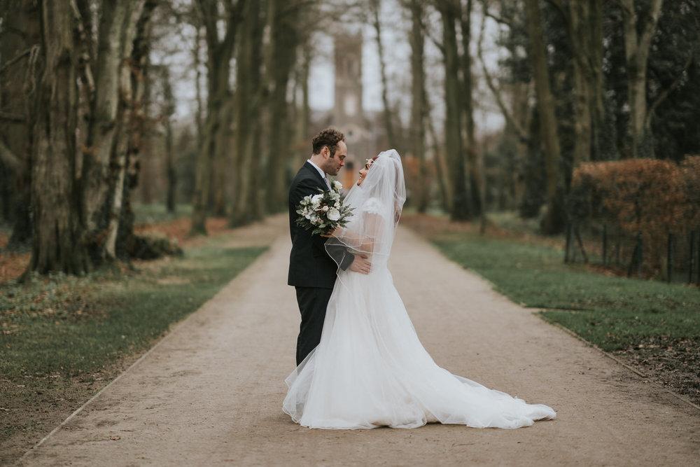 Dunadry Hotel Wedding Bride and Groom Portrait
