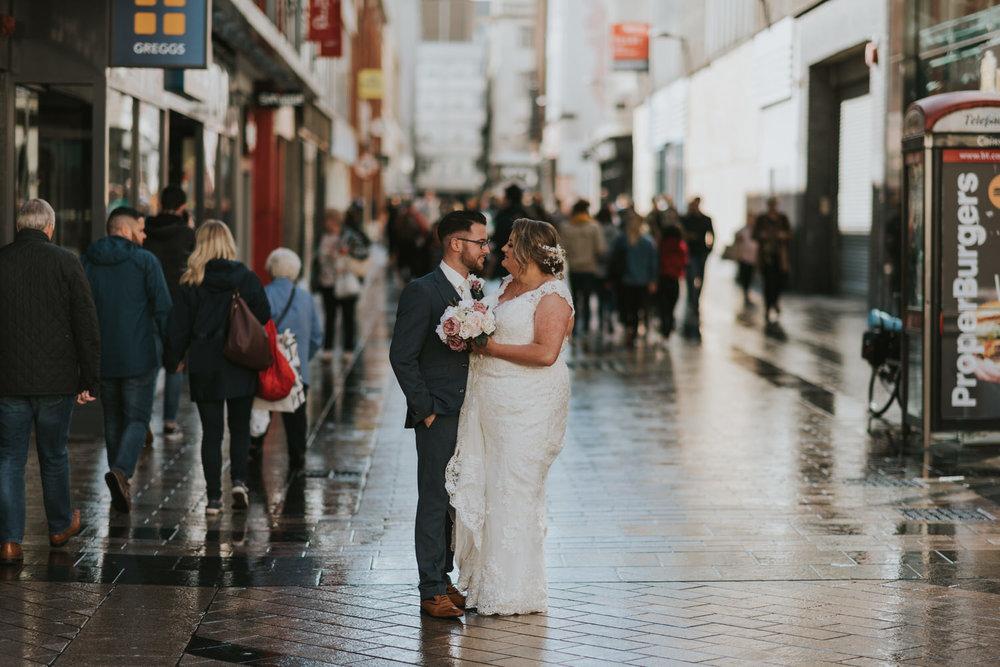 Ten Square Hotel Belfast Wedding Bride and Groom