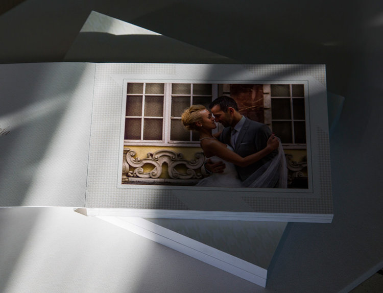wedding photography package including an album