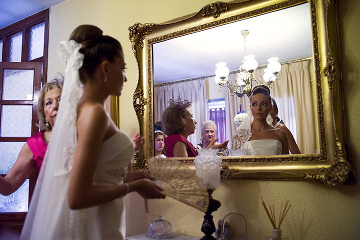 reflection, mirror, wedding photography