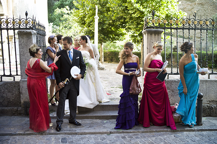 Wedding Photographer, Tony Marin, Spain, bridesmaid, dresses, Santa Maria de la Alhambra
