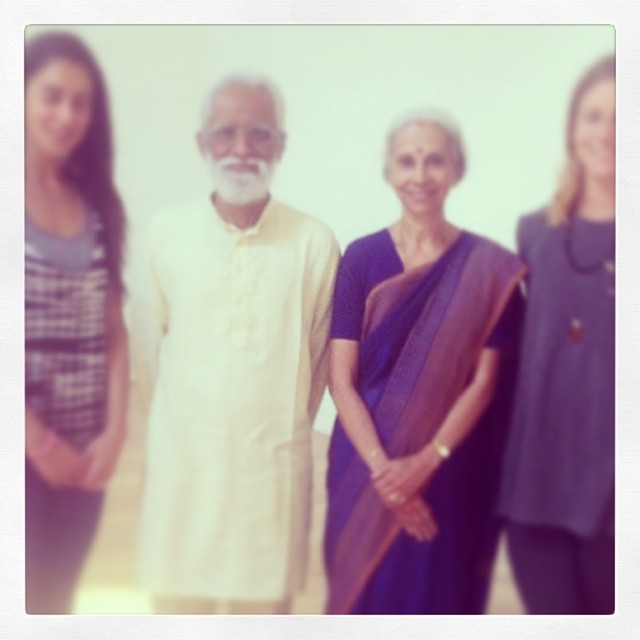 Magical day of learning and wisdom with two of #krishnamacharya 's senior students A.G & Indra Mohan #mindfulnessthroughyoga #mindthemind #Mohan #yogacampus #london #yoga #beyond the flow #regram