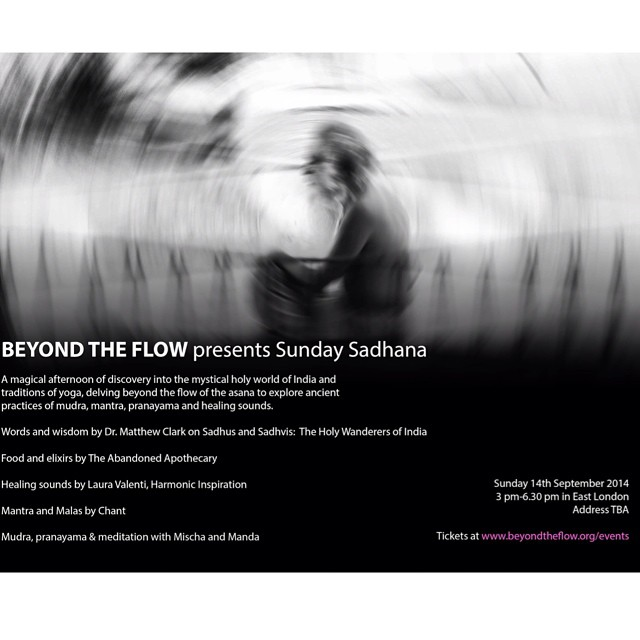 Beyond The Flow invites you to our very first Sunday Sadhana on 14th September. We hope you can join us. For more information and tickets visit www.beyondtheflow.org/events #beyondtheflow #btf #sundaysadhana #yogalove #lovetolearn #becurious #beinspired