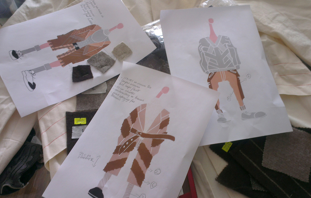 Carlo's sketches for Tengri's AW2014/15 collection