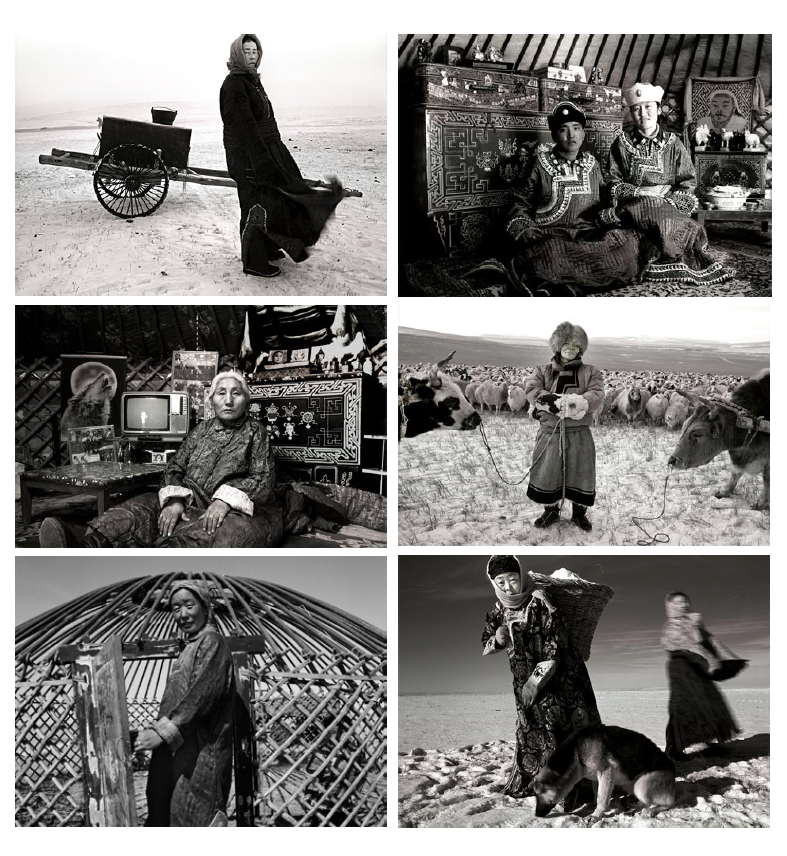 A selection of photographs by A Yin, a Mongolian anthropologist-photographer