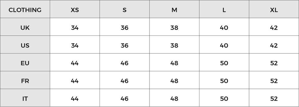 Size Chart Tengri