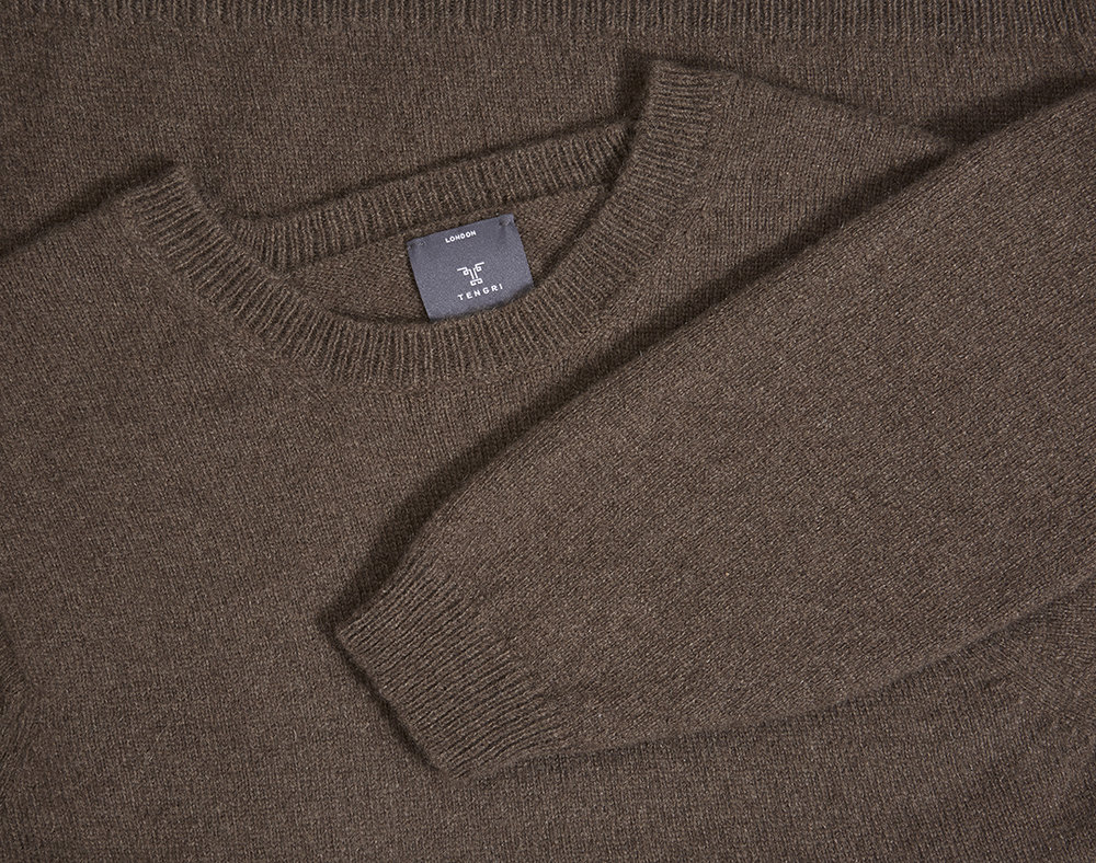 Classic Crew Sweater – a lightweight sweater, hand-loomed in Scotland.