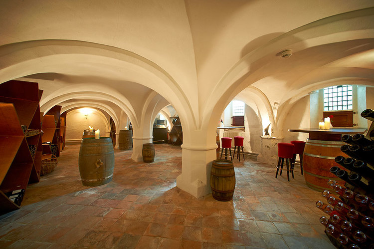 De wijnkelder van de Mariënhof